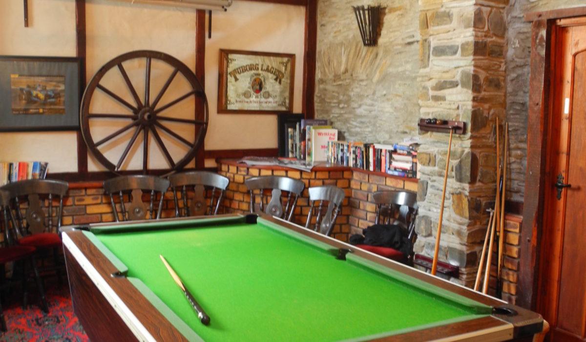 Pool Table in Games Room